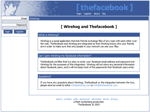 Facebook-wirehog